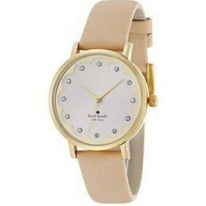 NIB Kate Spade Watch tan Leather Strap Watch 34mm